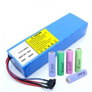 Litijeva baterija 18650 60V 12AH litij-ionska baterija za ponovno punjenje skutera