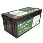 Vruće se prodaje 2,56 kWh lifepo4 baterija 12v 200Ah 6000 ciklusa rv baterija