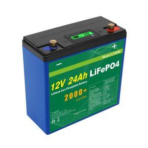 Solarni duboki ciklus 24v 48v 24ah Lifepo4 baterija UPS 12v 24ah baterija