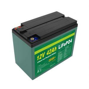 Održavanje Prilagođena solarna baterija Lifepo4 Cell Lifepo4 Cell 12v 40ah 42ah s BMS