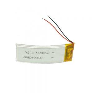 LiPO baterija prilagođena 302045 3,7V 260mAh