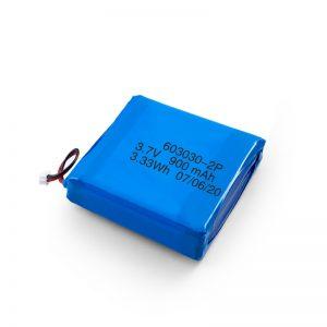 Prilagođena punjiva 3.7V 450 530 550 700 750 800 900Mah Li-Po Lipo baterija