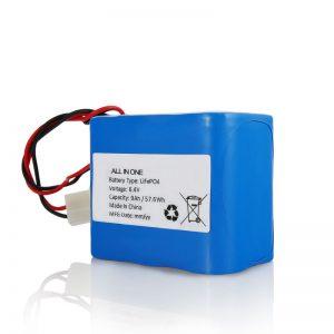 Litij 26650 32650 baterija s punjačem LiFePO4 od 6,4 V 12Ah s priključkom za solarno svjetlo